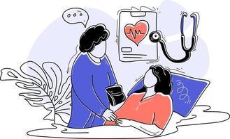 Medical Supervision  Treatme flat illustration Medical Care vector