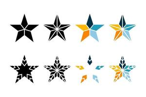 Black and color star icon vector illustration