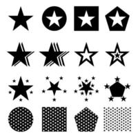 star set icons vector