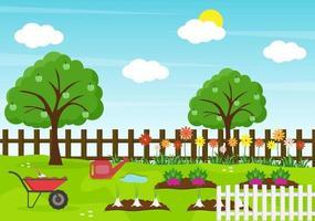 Farm Gardener Background Vector