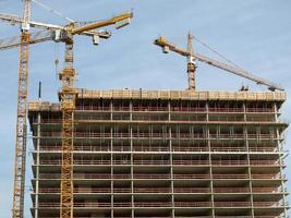 Building site scaffolding photo