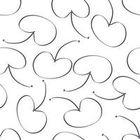 Doodle style monochrome seamless pattern with cherries berries vector