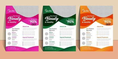Beauty Spa Flyer Template design vector