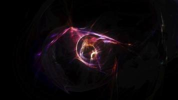 Loop mysterious colorful shining glow chaos energy tunnel video