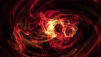 Digital art glowing Magical Fire Flames Wave loop video