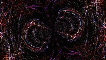 túnel de red de malla de alambre de luces de caos resplandecientes hipnóticas video