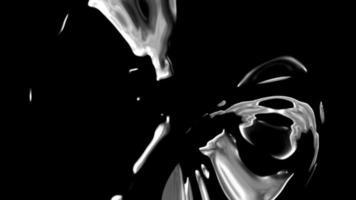 abstracte zwart naar wit grunge vloeistof stroom overgang achtergrond video