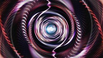 volo infinito attraverso luci al neon blu rosso porpora video