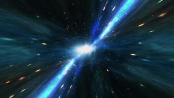 Seamless loop blue light Space travel, video