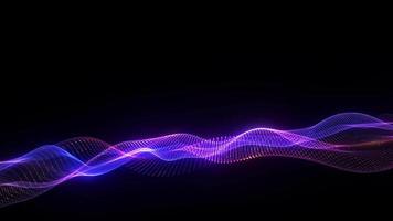 nät glödande blå rosa digital wae, rörelse av digital data video
