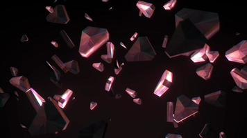 Abstract animation 3D red gold  triangle seamless loop moving video