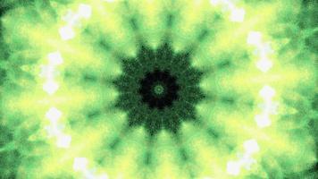 abstrakt glöd ljusgrönt kalejdoskop sekvensrotationsslinga video