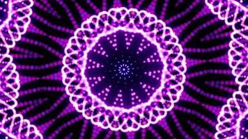 loop de padrões de sequência de caleidoscópio multicolor video