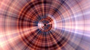 boucle de vj de tunnel de maille de ligne de gradient de lueur orange de cycle video