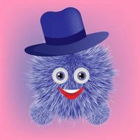 Fluffy cute realistic 3D soft toy vector