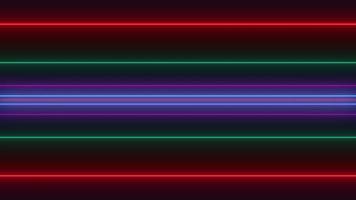 Abstract neon laser loop video