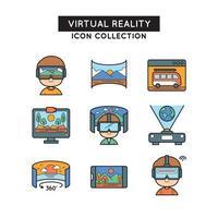 Virtual Reality Icon Collections vector