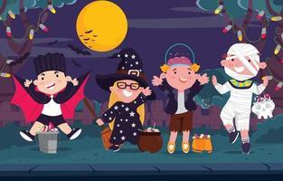 Halloween Costume Party vector