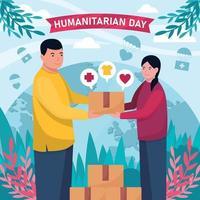 actividades del día mundial humanitario vector