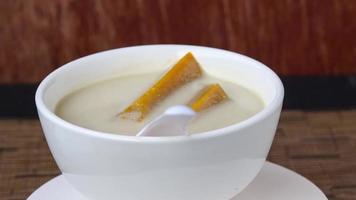 Thai dessert with coconut milk video