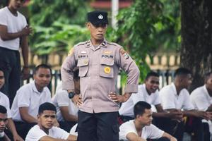 Sorong, West Papua, Indonesia 2021- Indonesian Police non-commissioned candidates photo