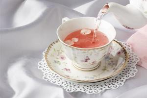The beautiful tea party composition photo