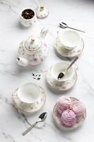 el hermoso surtido de la fiesta del té foto