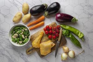 Cerrar una deliciosa preparación de comida foto