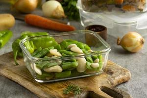 Close up delicious meal preparation photo
