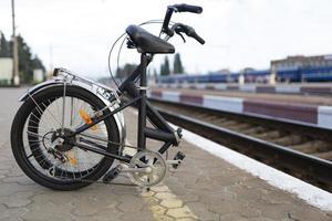 Easy use folding bike city photo