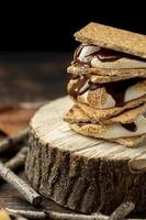 The delicious mores dessert composition photo