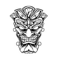 Tiki Head Illustration vector