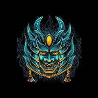 Devil Mask Samurai vector