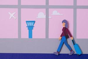 viaje de nuevo concepto surtido de estilo de papel foto