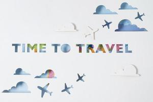 la disposición del concepto de viaje de nuevo foto