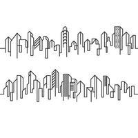 City Building Line art Vector Illustration template