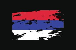Grunge Style Flag of the Republika Srpska. Vector illustration.