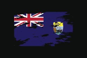 Grunge Style Flag of the Saint Helena. Vector illustration.