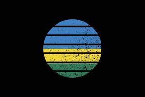 Grunge Style Flag of the Rwanda. Vector illustration.