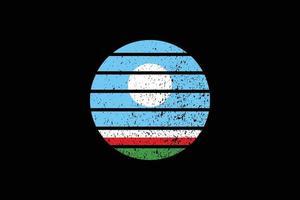 Grunge Style Flag of the Sakha Republic. Vector illustration.