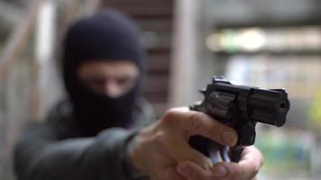 A Bandit with Gun on The Street video