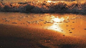 A Landscape with The Sunset on The Beach video
