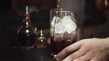 A Bartender Pouring a Drink video