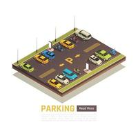 Parking Isometric View vector