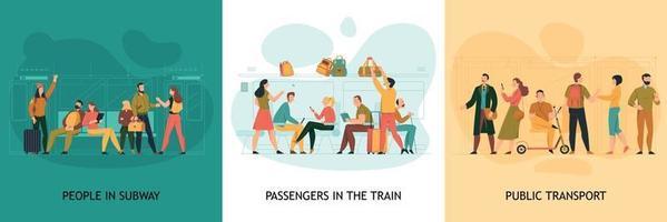 Public Transport Design Concept vector