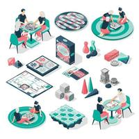 Board Games Isometric Set vector