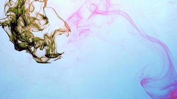 Ink Flows Smoothly in Underwater Aquarium video