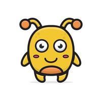 cartoon yellow monster vector