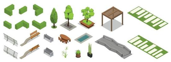 Landscape Design Icons Collection vector
