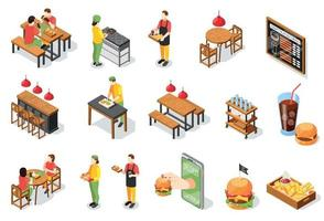 Burger Restaurant Icons Collection vector